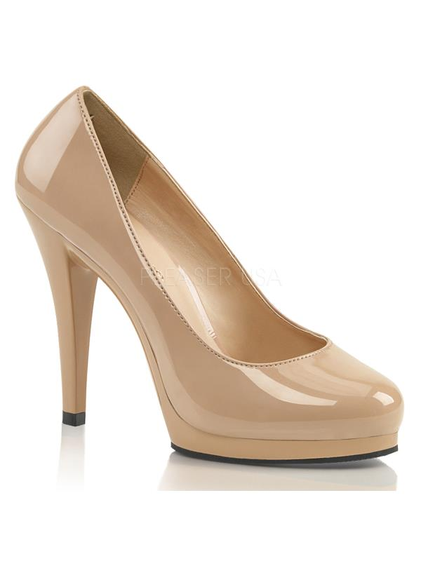 """FLA480/ND/M Nude Pat/Nude Fabulicious Size: Shoes 4 1/2"""" Flair Size: Fabulicious 8 2972ac"""
