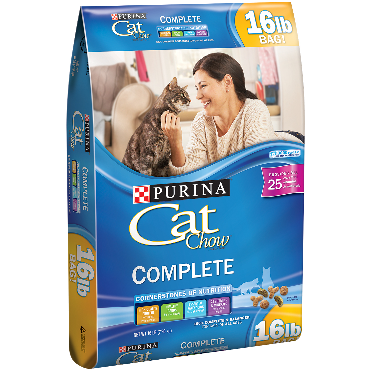 Purina Cat Chow Complete Cat Food 16 lb. Bag
