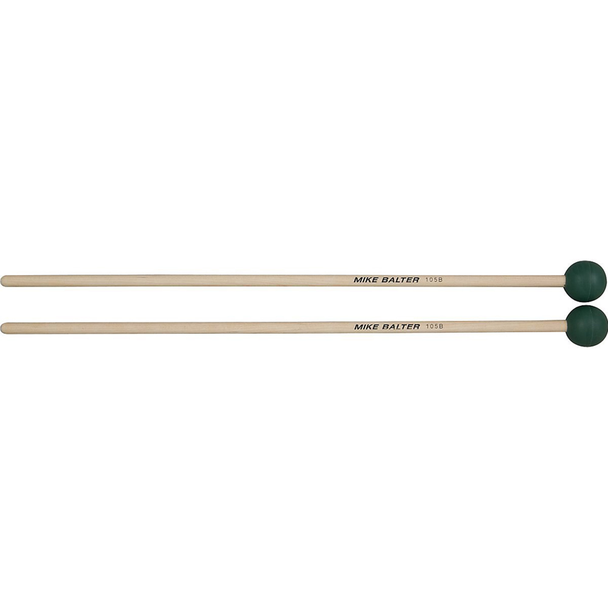Mike Balter 105B Grandioso Unwound Series Medium Hard Dark Green Rubber Keyboard Mallets w... by Mike Balter