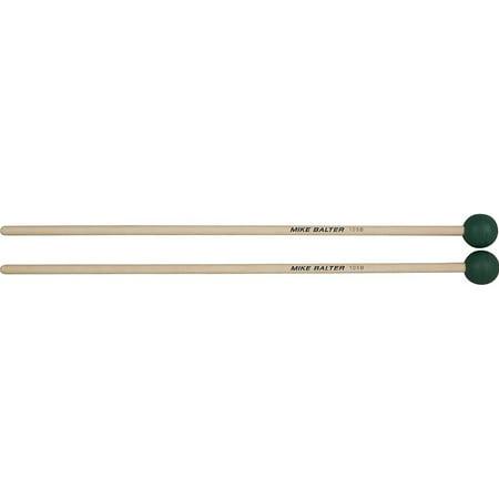 Series Medium Rubber - Mike Balter 105B Grandioso Unwound Series Medium Hard Dark Green Rubber Keyboard Mallets w/ Birch Handles