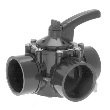 Hayward PSV3S2 PSV Swimming Pool 3-Way 2 x 2.5 Inch CPVC Water Diverter Valve