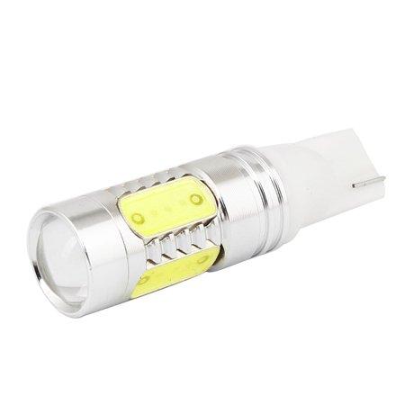 Unique Bargains T10 7.5W White 5 LED Projector Dash Side Parking Light Bulb 12V for Car