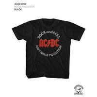 ACDC NOISE POLLUTION 2T Cotton T-shirt Black Child Boy's Girl's Short Sleeve T-shirt