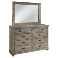 Progressive Furniture Willow Weathered 9 Drawer Dresser