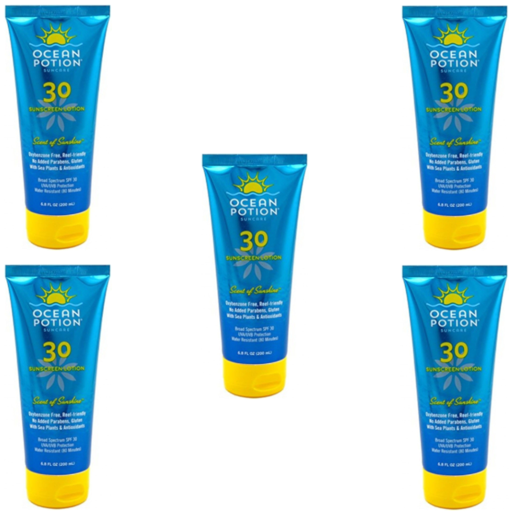 5 Pack - Ocean Potion Scent Of Sunshine SPF 30 Sunscreen Lotion, 6.8 oz Each
