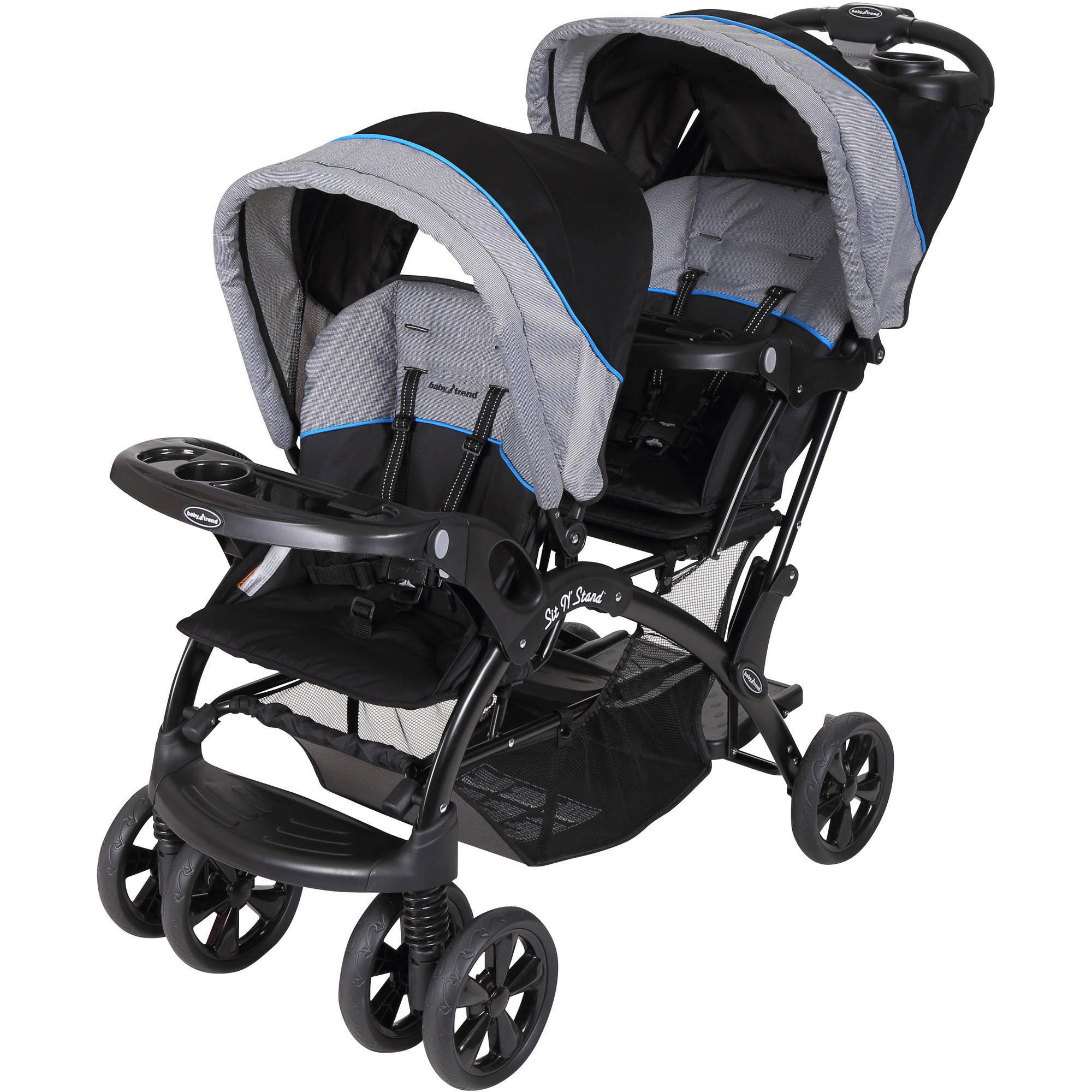 Baby Trend Sit 'N Stand Double Stroller, Millennium Blue