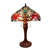 Fine Art Lighting Tiffany 23'' H Table Lamp with Bowl Shade