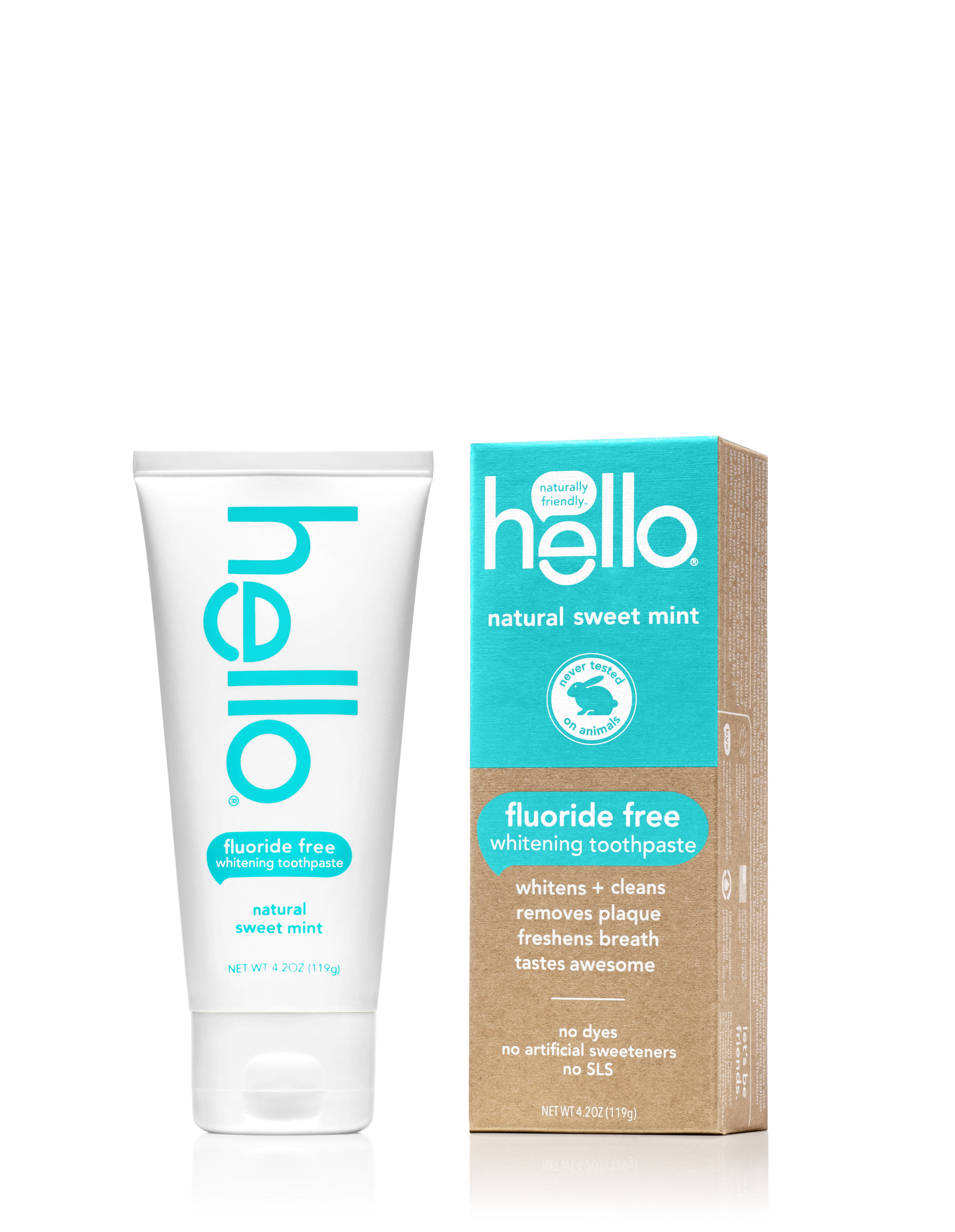 Hello Natural Sweet Mint Fluoride Free Toothpaste 42 oz Walmartcom