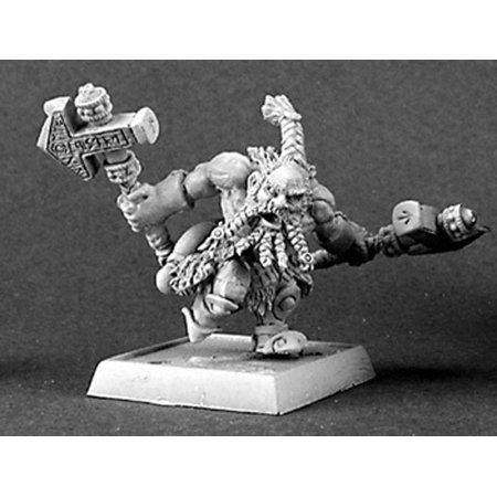 Reaper Miniatures Logan, Dwarf Warlord #14303 Dwarves Unpainted RPG Mini Figure