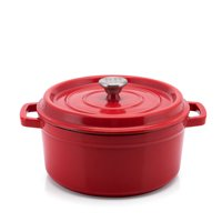 Better Homes & Gardens Enameled Cast Iron Dutch Oven, Red