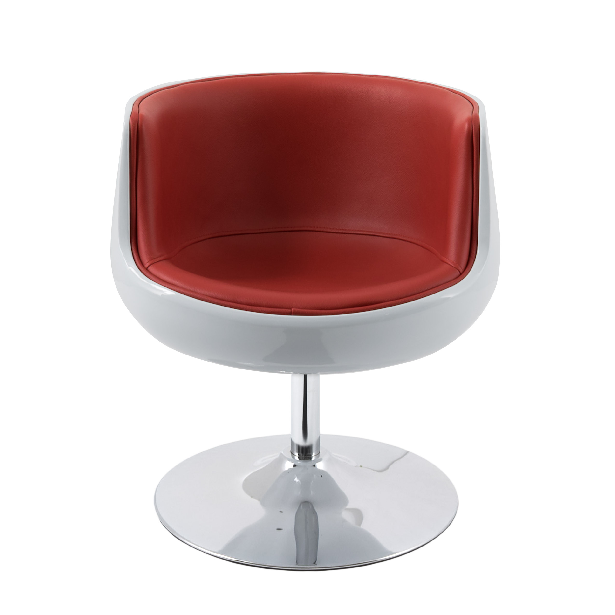 Ordinaire Modern Bonded Leather Barrel Chair