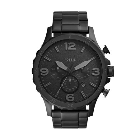 43b851426cff Fossil - Men s Nate Chronograph Black Stainless Steel Watch (Style ...