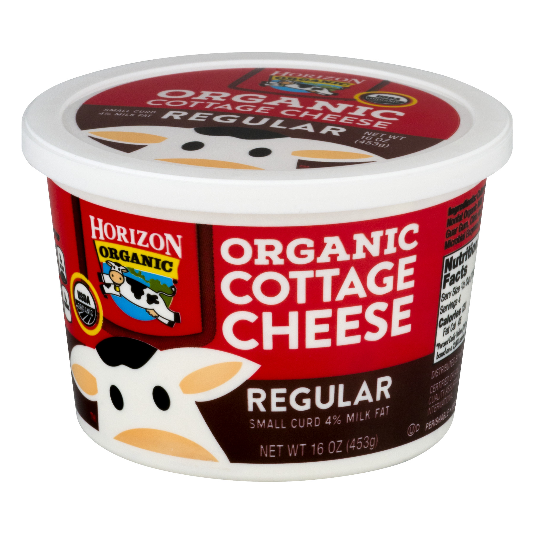 horizon organic cottage cheese regular 16 0 oz walmart com