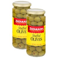 (2 Pack) Zatarain's Manzanilla Stuffed Olives, 7 oz
