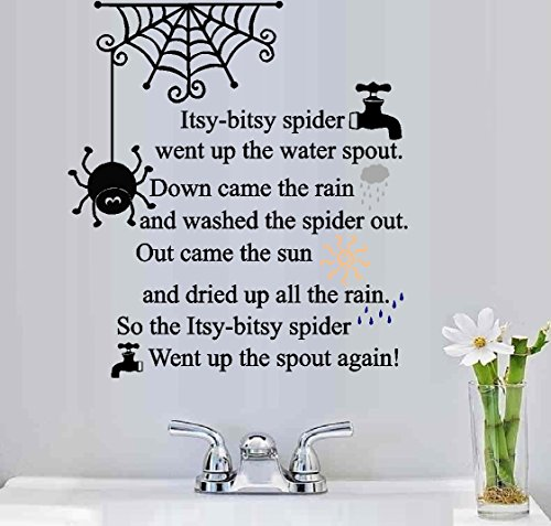 "Decal ~ Itsy-Bitsy Spider ~ Wall Decal 20"" x 23"""