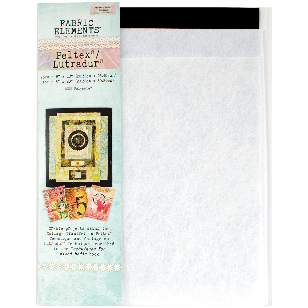 "Fabric Elements 8""X10"" Peltex/8""X20"" Lutradur 3pcs-"