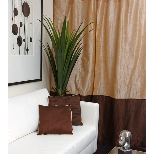 Flato Home Products Tuscany Striped Semi-Sheer Tab Top Single Curtain Panel