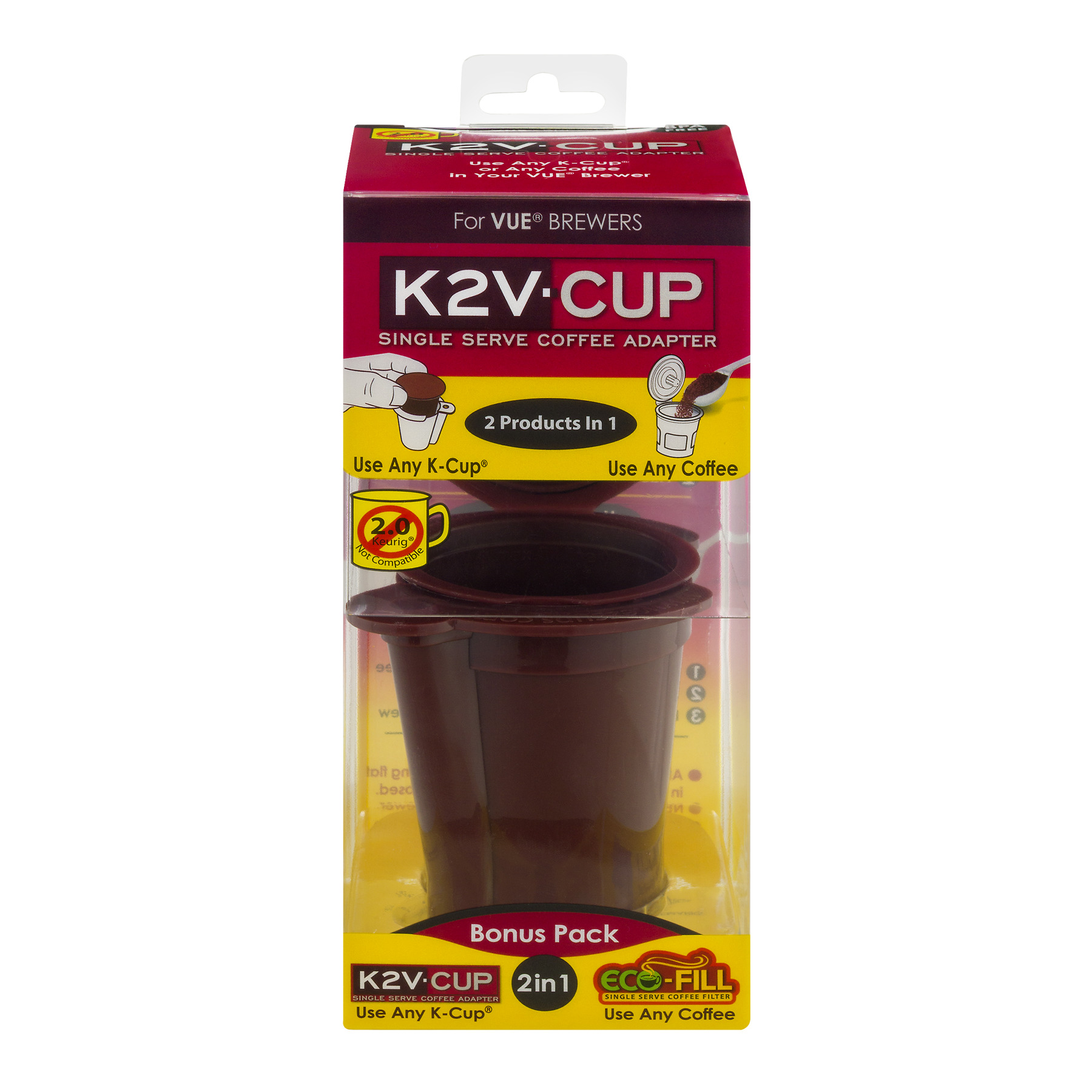 K2V-Cup Single Serve Coffee Adapter, 1.0 CT