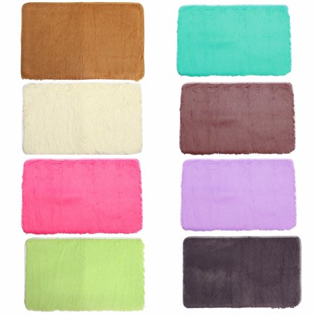 """❤ 32""""x20""""x1.8"""" Multicolors Non-slip Absorbent Soft Thick Plush Bath Mat Bathroom Floor Shower Quick Drying Rubber Luxury Anti-skid Mat Pad Rug 8 Colors ❤ - image 3 of 10"""