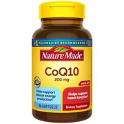 Nature Made CoQ10 200 mg Softgels, 80 Count Value Size for Heart Health and Cellular Energy Production†