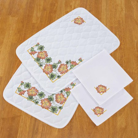 Herrschners® Tropical Vines Pre-Quilted Place Mats & Napkins Stamped - Tropical Napkins