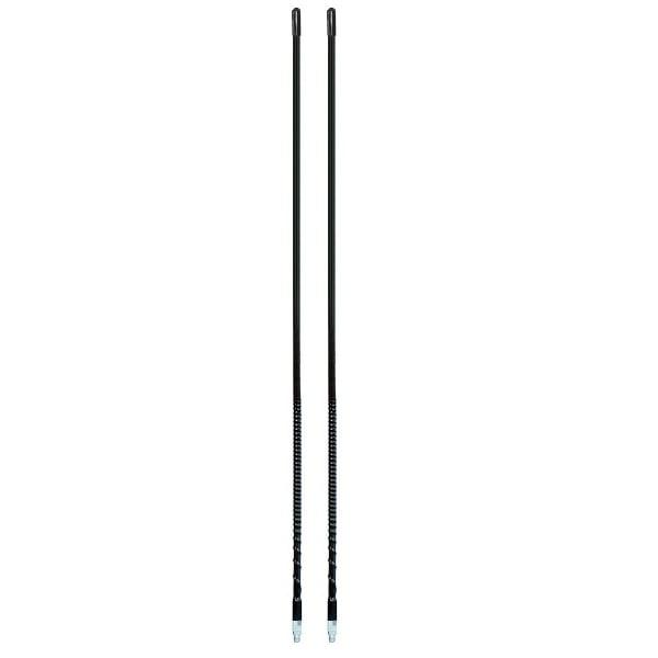 LOT OF 2 ARIES 10810 3` Foot Fiberglass 500 Watt CB Radio Antenna BLACK