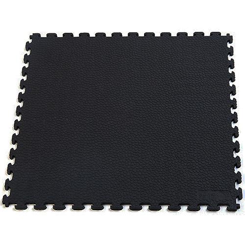 Norsk NSMPRT6BLK Rhino-Tec Sport Floor PVC Tiles, 13.95-Square Feet, Black, 6-Pack