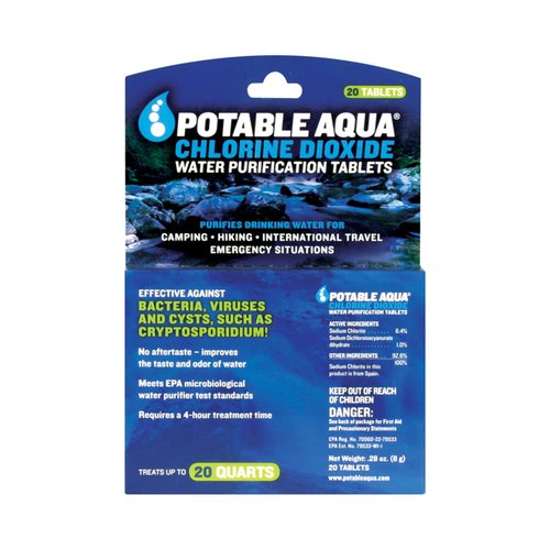 Coleman 20ct PA Chlorine Dioxide Water Purification Tablets
