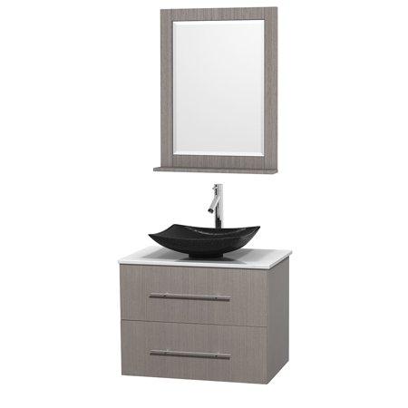 Wyndham Collection Centra 30 Inch Single Bathroom Vanity In Grey Oak