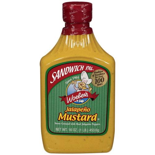 Sandwich Pal Jalapeno Mustard, 16 oz