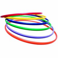"Sportime Ultrahoops No Kink Strong and Controllable Hoop Set, 36"", Multiple Color, Set of 6"