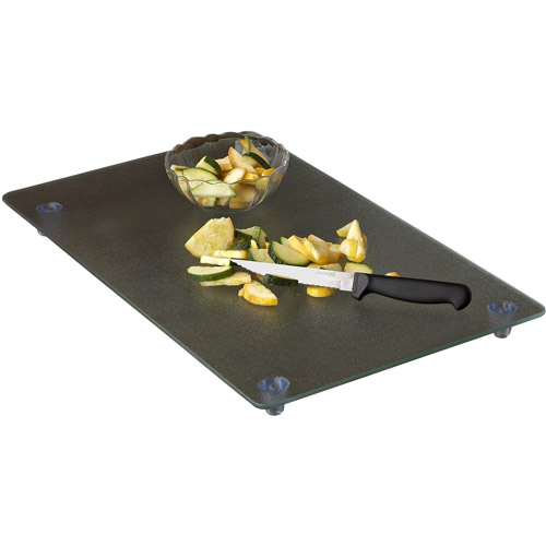 """Instant Counter Footed 20"""" x 12"""" Glass Cutting Board"""