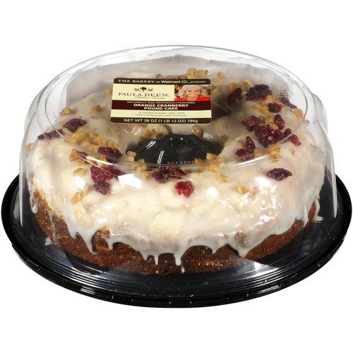 The Bakery at Walmart Paula Deen Orange Cranberry Pound Cake, 28 oz