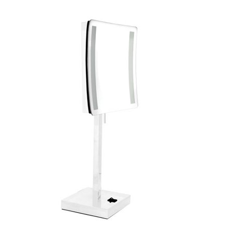 Metal Square Led Lighted Makeup Vanity Mirror Hd Clarity