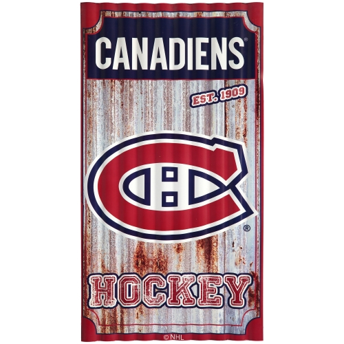 "Montreal Canadiens 21.5"" x 12"" Corrugated Metal Wall Art - No Size"