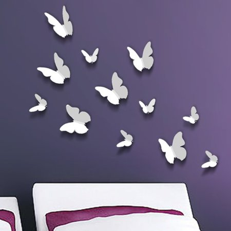 walplus 3d butterfly wall decal. Black Bedroom Furniture Sets. Home Design Ideas
