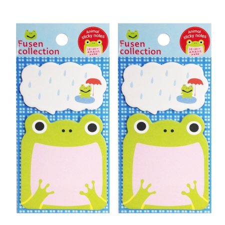 Wrapables® Talking Animal Memo Bookmark Sticky Notes (Set of 2), Frog