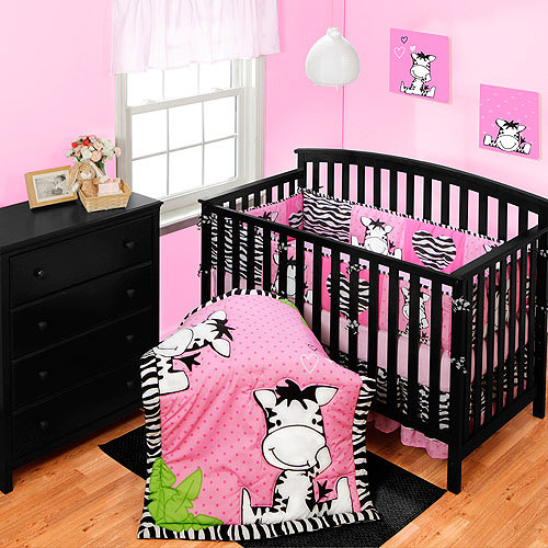 Baby Boom I Luv Zebra Crib Collection Set - Value Bundle