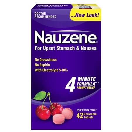 Nauzene Nausea Relief Chewable Tablets Wild Cherry Flavor, 42 CT