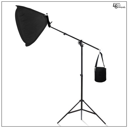 Loadstone Studio Heavy Duty Umbrella Softbox Flash Light Boom Light Stand Lighting Kit for Photo and Video, - Studio Flashlight