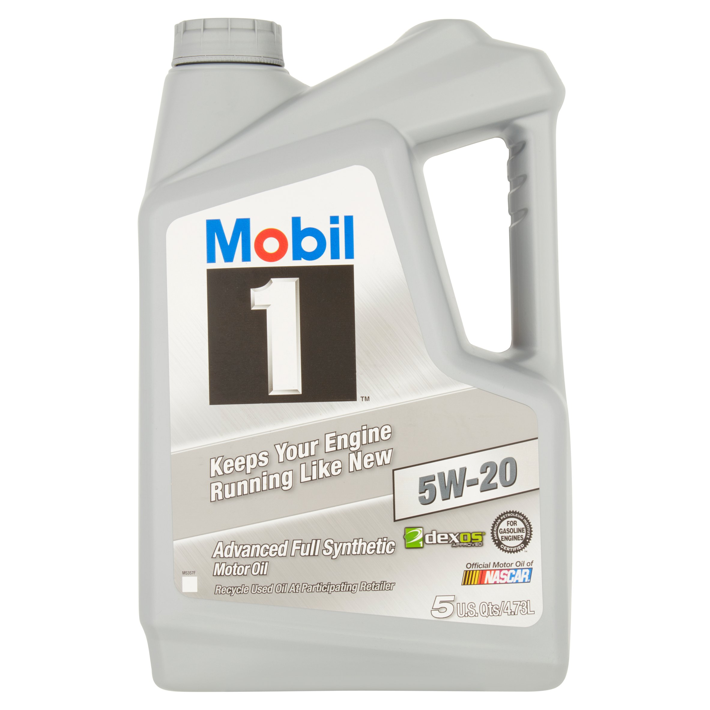 Mobil 1 5w 20 full synthetic motor oil 5 qt 071924149915 for Synthetic motor oil sale