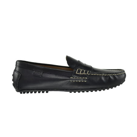 Polo Ralph Lauren Wes Smooth Pull Up Men's Loafers Black