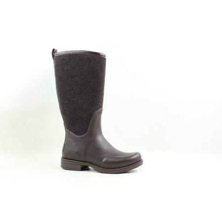UGG Womens Reignfall Chocolate Rainboots Size 5 ()