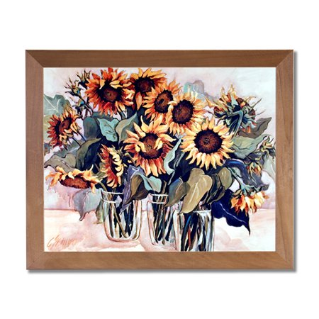 - Country Sunflower Floral Kitchen Wall Picture Honey Framed Art Print