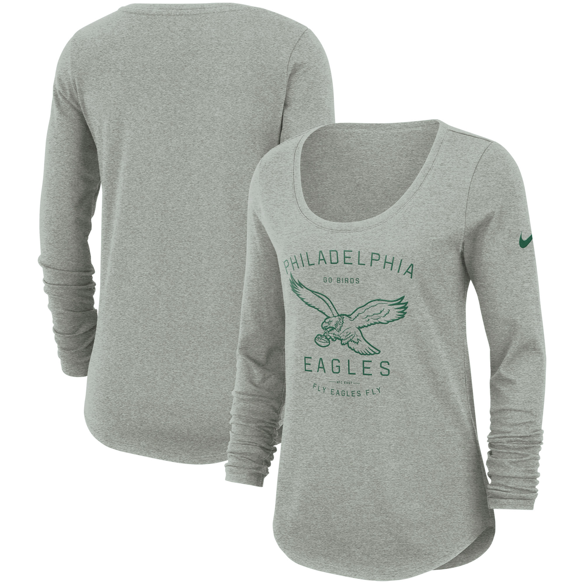 Philadelphia Eagles Nike Women's Team Slogan Long Sleeve T-Shirt - Dark Gray