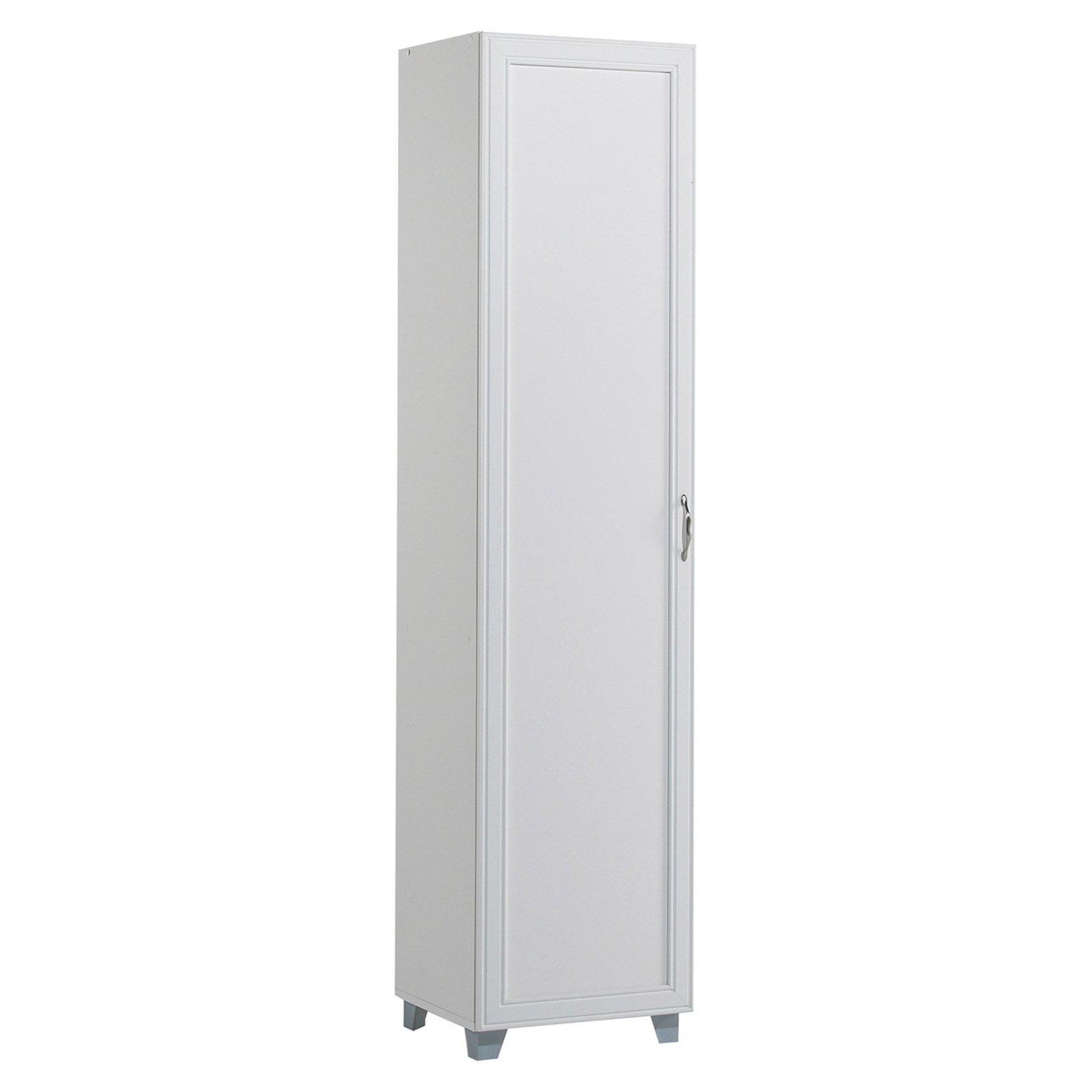 akadaHOME Tall Single Door Storage Cabinet - White