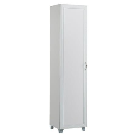 Akadahome Tall Single Door Storage Cabinet White