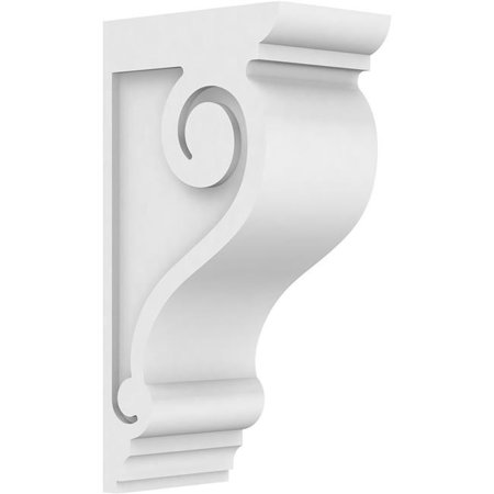 Ekena Millwork CORP05X09X18SCR Standard Scroll Architectural Grade PVC Corbel - 18 x 5 x 9 in. - image 1 de 1