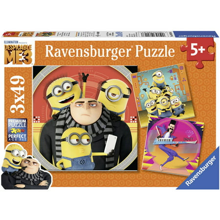 Ravensburger Despicable Me 3 3-in-1 Jigsaw Puzzle Multi-Pack - Minion Chaos: 3 x 49 Pcs ()