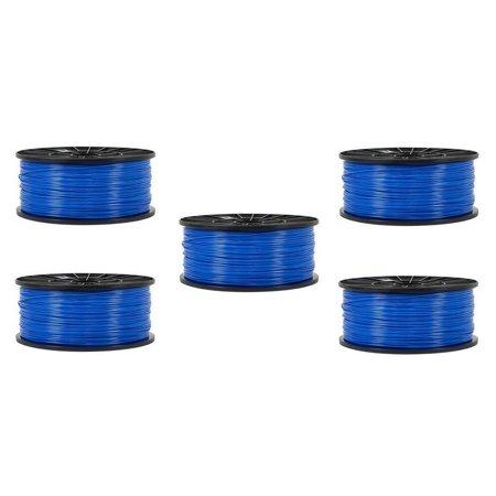 AIM Compatible Replacement - Premiere 3D Printer Universal ABS Blue Filament (5/PK-1.75MM/1KG) (PFABSBL5PK) - Generic